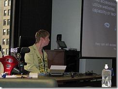 Glenda presenting at SOBCon 09