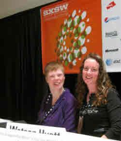 Glenda Watson Hyatt and Shawn Henry after SXSW 2011 presentation