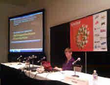 Glenda presenting at SXSW 2011